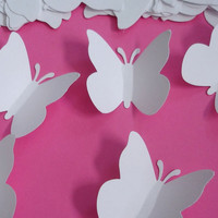 50 Large White Wedding Butterfly Punch by BelowBlink on Etsy