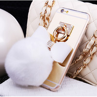Hairlball Pendant Anti-Shatter Transparent Soft Phone Case Cover for iPhone 6S & iPhone 6S Plus