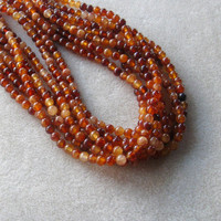 Amber Orange Jade Beads, Gemstone Beads, Jewelry Making Beads, Beads for Designing, Round Beads, Jade Beads, Craft Supplies, Christmas Beads