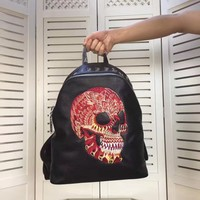 PP PHILIPP PLEIN MEN'S NEW STYLE FASHION LEATHER BACKPACK BAG