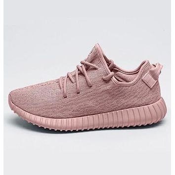 Fashion Adidas Yeezy Boost Solid color Leisure Sports shoes Pink G