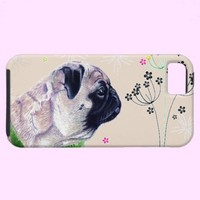 Pug & Flower iPhone 5 Case from Zazzle.com