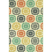 Oriental Weavers Transitional Ivory Colorful Polypropylene Floral Machine-Woven Area Rug