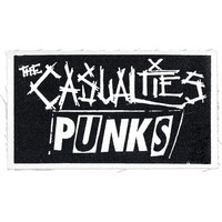 Casualties Men's Punks Cloth Patch White