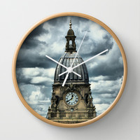 Leeds Town Hall Extravaganza Wall Clock by Karl Wilson Photography