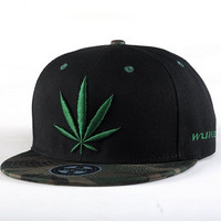 New Men's Classic Black Flat-Brimmed Hip Hop Hat Snapback Adjustable Baseball Cap = 5617141441