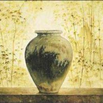 Chinese Vase with Bamboo II