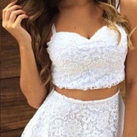 Lace Strap Two-Piece Set