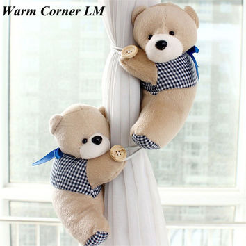 2PC Bears 5 Colors Winne Window Curtain Holder Tieback Buckle Clamp Hook Fastener Toys Free Shipping Sept 2