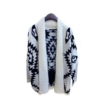 New Vintage Women Lady Open Front Loose Batwing Knitted Sweater Cardigan Coat