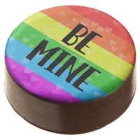 Valentine's Day Be Mine LGBT Pride Chocolate Covered Oreo