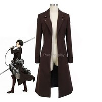 Rulercosplay Attack on Titan Wing of the Counter Levi Cosplay Coat - Male Size