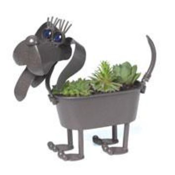 "Georgetown Mini Metal 4"" Planter-Mini Weiner Dog"