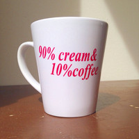 Custom coffee mug cream and coffee mug