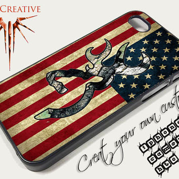 Camo Browning American Flag Covers iPhone 4/4S iphone 5/5s/5c Samsung Galaxy S3/S4 and HTC cases