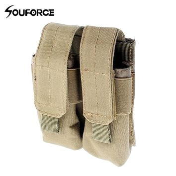 Tactical Dual Double Pistol Mag Magazine Pouch Close Holster For Outdoor Combat Military Hunting Collection Bag