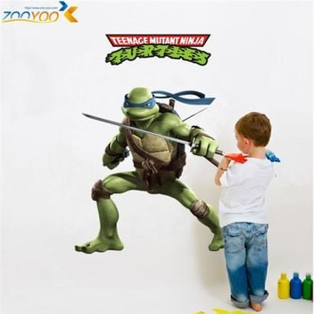 memories of childhood teenage mutant ninja turtles wall decals zooyoo031 decorative sticker kids room removable cartoon wall art