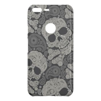 Sugar Skull Pattern Clearly Google Pixel XL Case