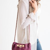 Cross My Heart Wine Bucket Bag