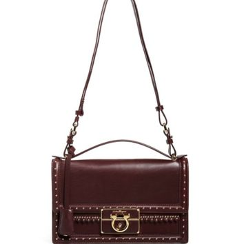 Salvatore Ferragamo Shoulder Bag - Aileen Grommet Fringe Medium | Bloomingdales's