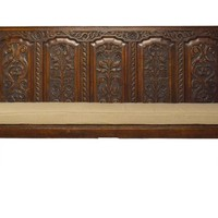 18th-C. English Georgian Oak Bench