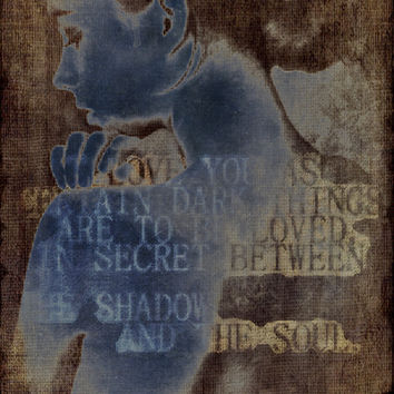 Neruda's Certain Dark Things Stretched Canvas by emotionalorphan