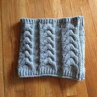 Gap gray knit cowl infinity scarf