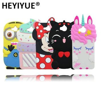 For Huawei Honor 4C Pro Cute Minnie Mouse Ice Cream Minions Stitch Soft Rubber 3D Phone Case For Huawei Y6 Pro