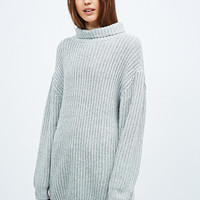BDG Shaper Stitch Turtleneck in Grey - Urban Outfitters