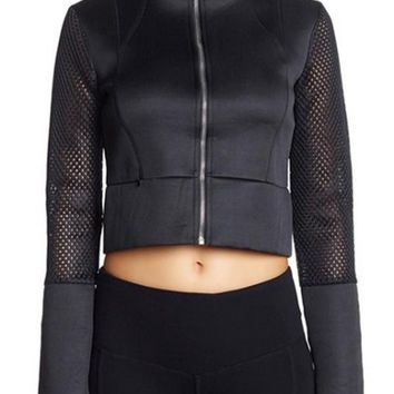 Energy Cropped Moto Jacket