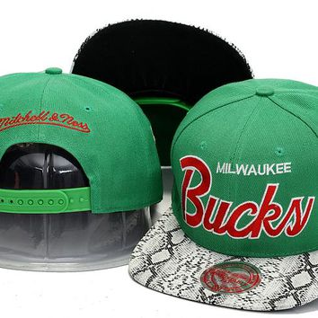 Milwaukee Bucks Nba Cap Snapback Hat - Ready Stock