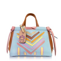 Paula Cademartori Linda Multicolor Leather Shoulder Bag
