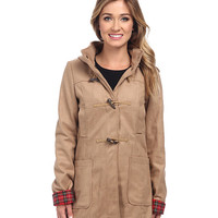 Brigitte Bailey Hooded Jacket with Toggle Closure Black - 6pm.com