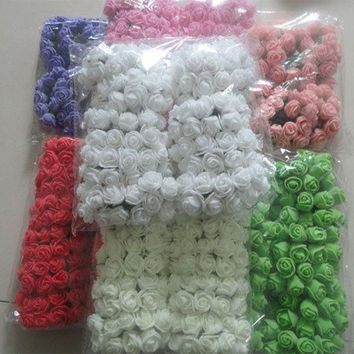 2015 2CM Multicolor PE Rose Foam Mini Flower Bouquet Solid Color/wedding decoration(144pcs/lot)  6Z-HD009-3 [7978673287]