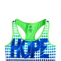 Dot Graphic Racerback Sports Bra | Girls Bras Pjs, Bras & Panties | Shop Justice