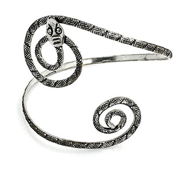 Silver Serpent Upper-Arm Bracelet