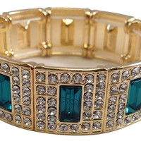 Gatsby Collection Emerald Jeweled Bracelet