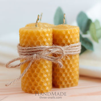Easter honey set of candles