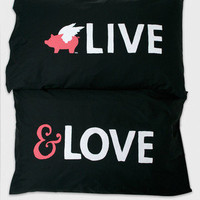 Live & Love Pillowcase Set - Glamour Kills Clothing