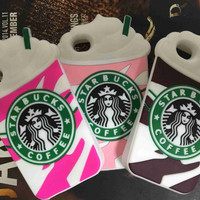 2015 Hot Sale 3D Cartoon Silicon Starbuck Coffee Cup Case Cover for Apple iPhone 4 4s 5 5s 6 Plus Mobile Phones