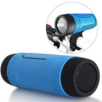 STYLEDOME Bicycle Waterproof Bluetooth Speaker with LED Light
