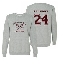 Women's Teen Wolf Stilinski 24 Pullover Small Grey