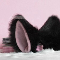 Cosplay Lolita Cat Ears Black and Pink