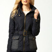 Bethany Belted Quilted Jacket