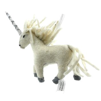 Unicorn Fair Trade Felt Tree Ornament