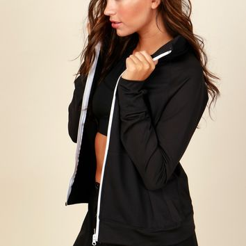 Zip It Active Wear Jacket Black