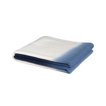 Ombre Indigo Throw Blanket