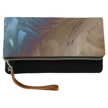 Golden Feathers Clutch