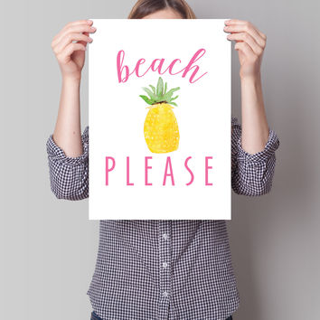 Beach Please Print