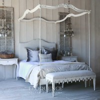 Eloquence Aria Queen Canopy Bed in Stone | New Furniture | What's New! | Candelabra, Inc.
